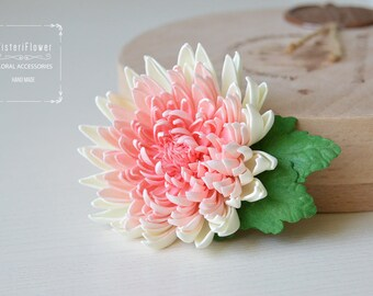 Wedding hair clip Gift for her Bohemian wedding Gift for mother Chrysanthemum Rustic wedding gift Woodland Hair accessories Flower for hair