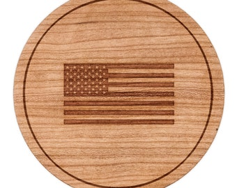 "American Flag Circle Magnet, Round Magnet, 2"" Refrigerator Magnet"