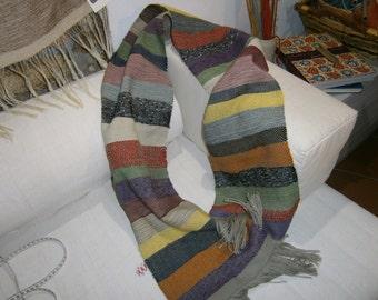 Wool scarf multicolor