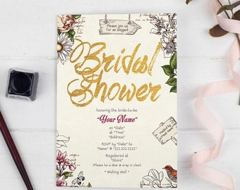 Bridal Shower Invitation - Botanical Garden