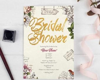 Bridal Shower Invitation - Botanical Garden