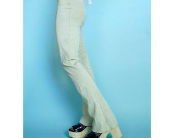 Vintage Suede leather pants 70s Sz 26 2