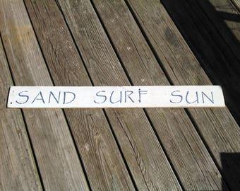 Sand Surf Sun Sign