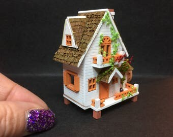 Micro 1/144th scale detached wooden house