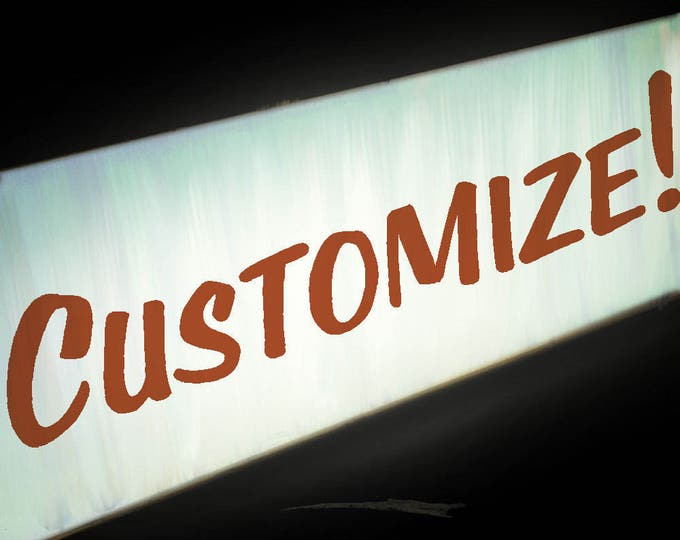 Double Sided Midcentury Modern Bold Custom LED Light Box Sign