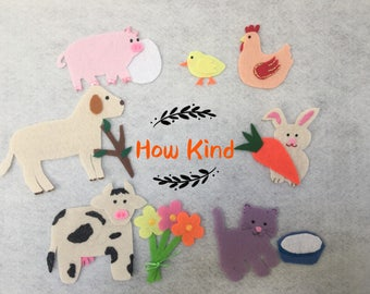 How Kind Felt Board Story/Flannel Board/Imagination/Preschool/Creative Play/teaching resource/Felt Board Activity