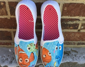 Disney nemo painted shoes