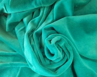 "Cotton velour JADE Eco-friendly fabric great for kids wear 60"" wide"