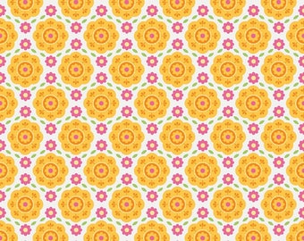 """Zoe Pearn for Riley Blake   """"Summer Song 2"""" Yellow Flannel"""