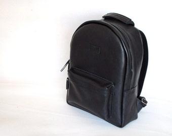 Men's leather backpack, large backpack
