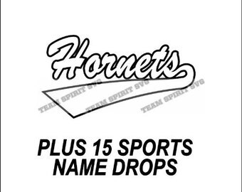 Hornets Swoosh Download Files - SVG, DXF, EPS, Silhouette Studio, Vinyl Cutting Files, Digital Cut Files - Use with Cricut and Silhouette