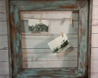 Distressed Frame with Twine