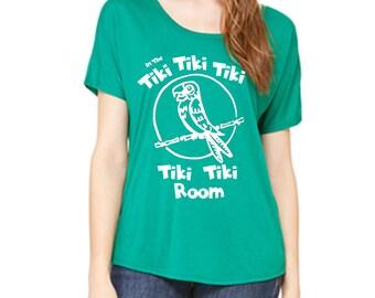 Disney Shirts Ladies Slouchy Tee Tiki Room Shirt Tiki Parrot Disneyland Shirt Disney World Shirt Magic Kingdom Tee Disney Cruise Shirt