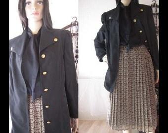 Vintage 80s costume pleated skirt & Blazer suit jacket S/38