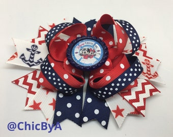 Fish Extender,Disney cruise,Disney Cruise Line Inspired,Minnie Mouse DCL Hair Bows,Mickey Mouse DCL Hair Bow,Large hair Bow