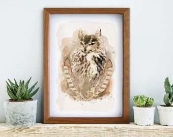 Ancient owl, poster, print, prints, artwork, premium print, wall art, owl, spring, OWL