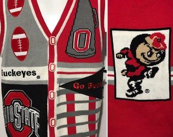 Vintage Ohio State OSU Sweater Vest M