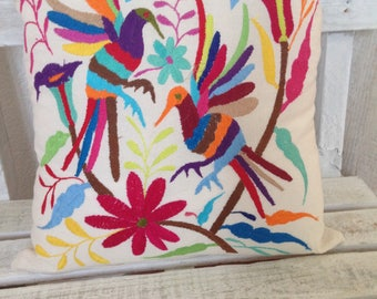 Mexican Embroidered Cushion Cover