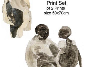 Downloadable print set, Abstract Printable Art, Fine Art Print, Wall Art Print, Home Decor, Instant Download, Large Art Print
