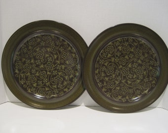 Franciscan MADEIRA Original TV Stamped~2~ Dinner Plates Like new