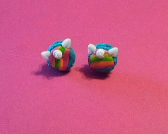 Macaroons unicorns earrings
