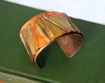 Copper geometric cuff