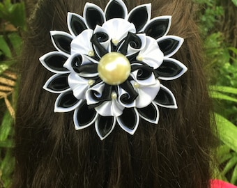 Hair Flower, Girls Hair Flower, Red Hair Flower, Hair Clip, Girl Hair Clip