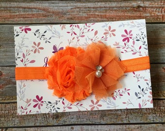 Orange Headband, Baby Headband, Headband, Newborn Headband, Baby Girl Headband, Infant Headband, Orange Baby Headband, Halloween Headband