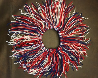 Baby girls size 6-9 months Red White & Blue yarn tutu. Patriotic tutu, Memorial Day, July 4th