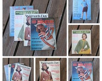 Women's Vintage Magazines/Vintage Crochet/Vintage Knit/Woman's Day Magazine/Needle Craft/Needle and Yarn/Old Magazines/Vintage Patterns
