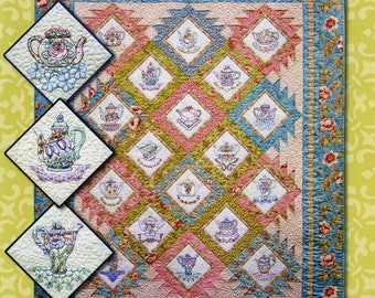Afternoon Tea Quilt Pattern by Judy Reynolds for Black Cat Creations