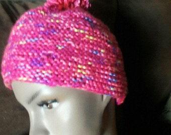 Boho knit hat