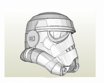 Stormtrooper helmet Star Wars IV A new hope DIY printable paper model pattern. Cosplay. Paper party mask. Papercraft pattern template