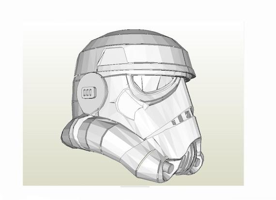 Stormtrooper helmet Star Wars IV A new hope DIY printable