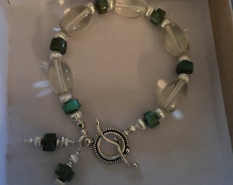 Unique combo of Citrine and turquoise bracelet