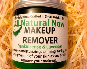 Natural Organic Makeup Remover with Frankincense and Lavender - Moisturizing, Healing, Anti-Aging, Acne, Wrinkles, Discoloration, Acne, Glow