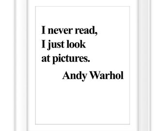 Andy Warhol Quote Etsy