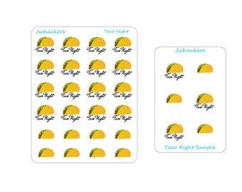 Taco Night Stickers | Erin Condren Life Planner | Happy Planner