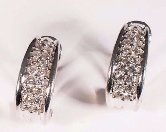 14K White Gold Diamond Earrings 1 ct. tw., 7.5 grams tw