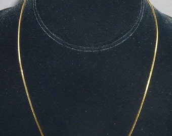 "14K Yellow Gold 18"" Long Serpentine Link Chain 5.9 grams total weight, 1mm Wide"
