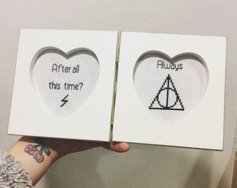 Harry Potter cross stitch after all is time always frame