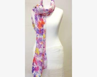 Tropical rain silk scarf