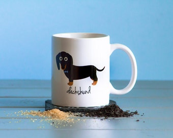 Dachshund Mug (black and tan - boy)