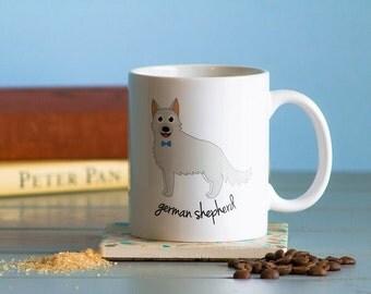 German Shepherd Mug (white - boy)