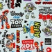 """Disney Toy Story Character Fabric made in Japan FQ 45cm by 53cm or 18"""" by 21"""""""