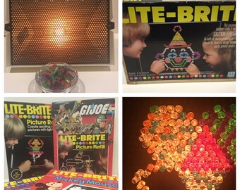 Vintage Lite Brite w pegs + extra pattern packs FREE SHIPPING