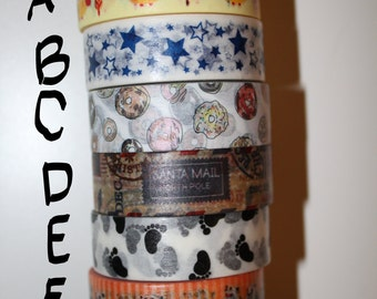 Washi Tape - Whole Roll - 1 roll per design