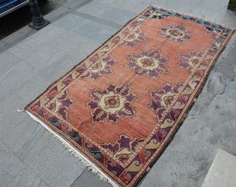Turkish Oushak Rug,handwoven Rug,Oushak anatolian,turkish antique Carpet,faded rug,area rugs,overdyed rugs,traditional rug '8.5x'4.3 ft