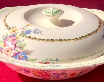 Pretty In Pink-Royal Winton Grimwades Christina Covered Dish