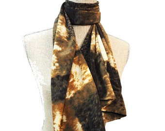 Brown Scarf, Yellow Scarf, Beige Scarf, Summer Scarf, Spring Scarf, Fashion Scarf
